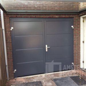 Openslaande garagedeur antraciet